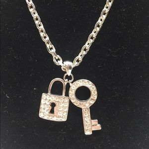 Jewelry - Lock and Key Silver Plated Necklace